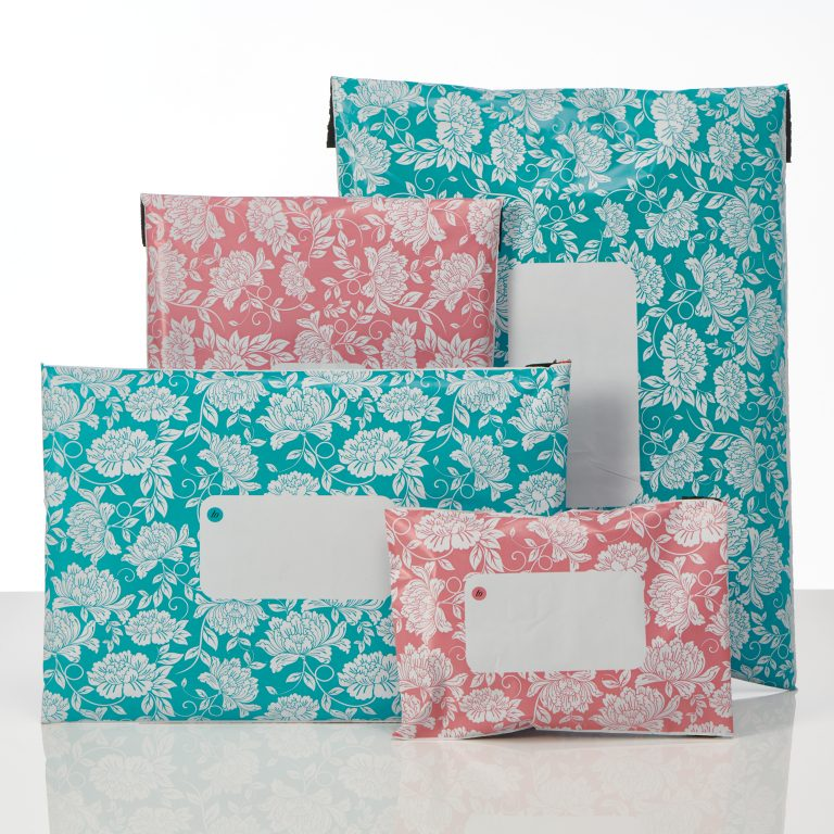divinely different floral polythene mailing bags