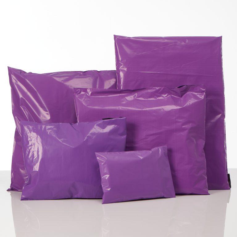 Purple Polythene Mailing Bags Group Spectrum