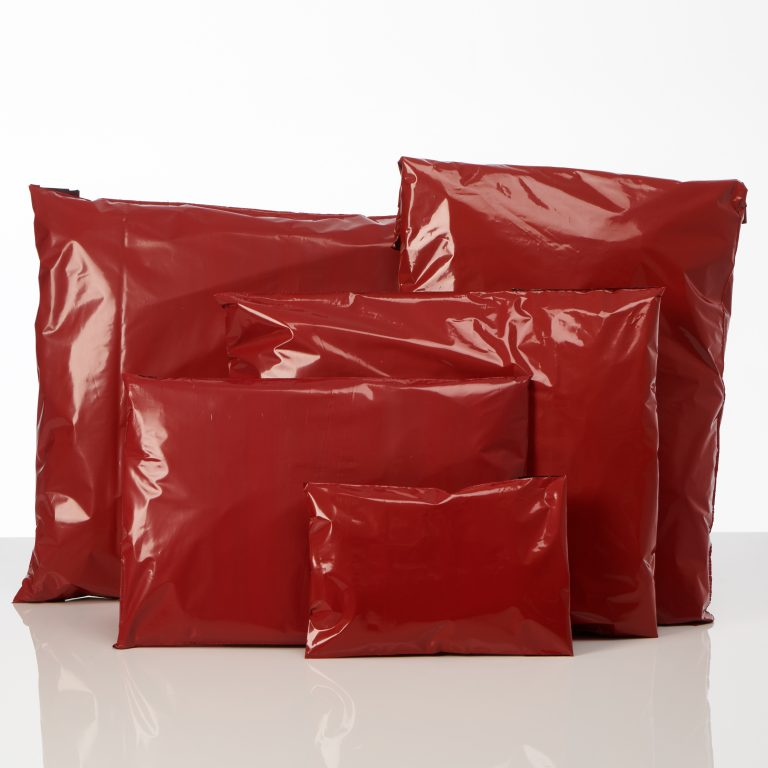 Red Polythene Mailing Bags Group Spectrum