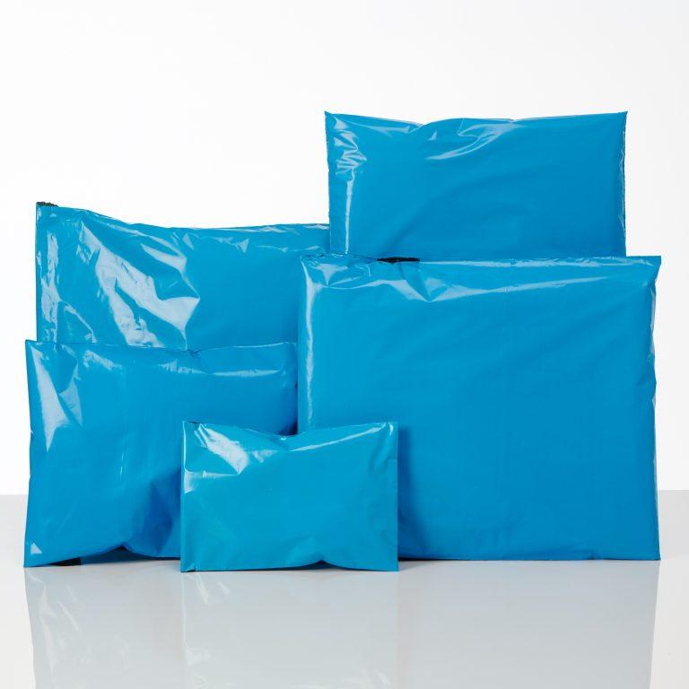 Blue Polythene Mailing Bags - Postal Spectrum Group