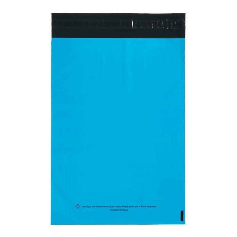 Blue Single Polythene Mailing Bag