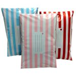 Printed Candy Stripe Polythene Postal Mailing Bag