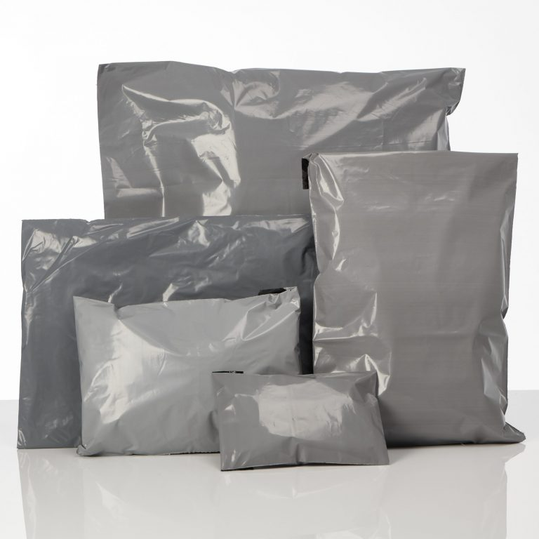 Grey Recyclable Polythene Mailing Bags Group Shot