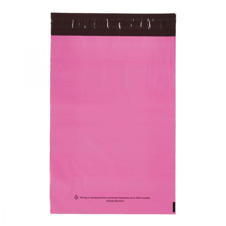 Pink Single Polythene Mailing Bag
