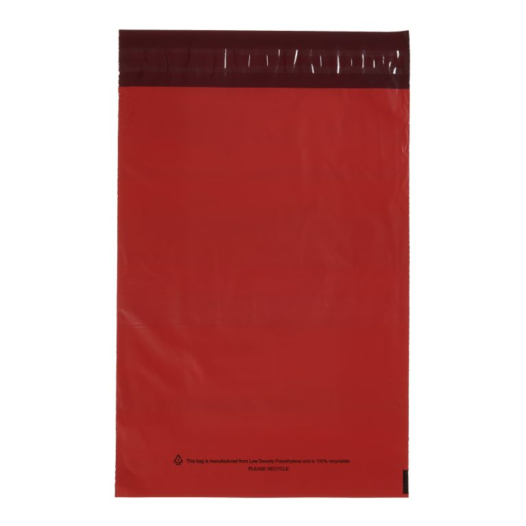 Red Single Polythene Mailing Bag