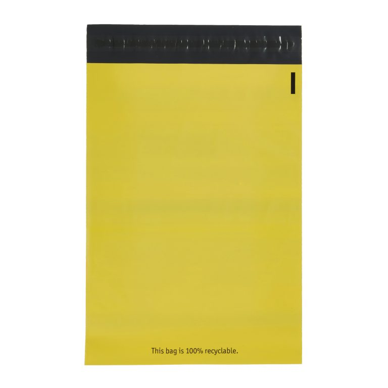 Yellow Single Polythene Mailing Bag