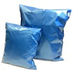 Blue Metallic mailing bags available in two popular mailing bag sizes
