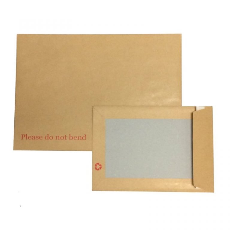 board backed envelopes in c5 and c4 size
