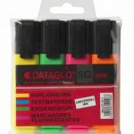 highlighters, 4 pack, assorted colours, dataglo