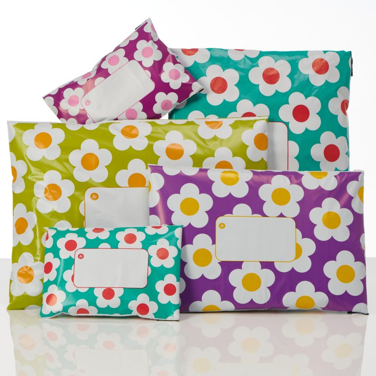 divinely different daisy polythene mailing bags group