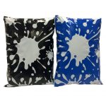 Blue & Black printed divinely different splatter mailing bags