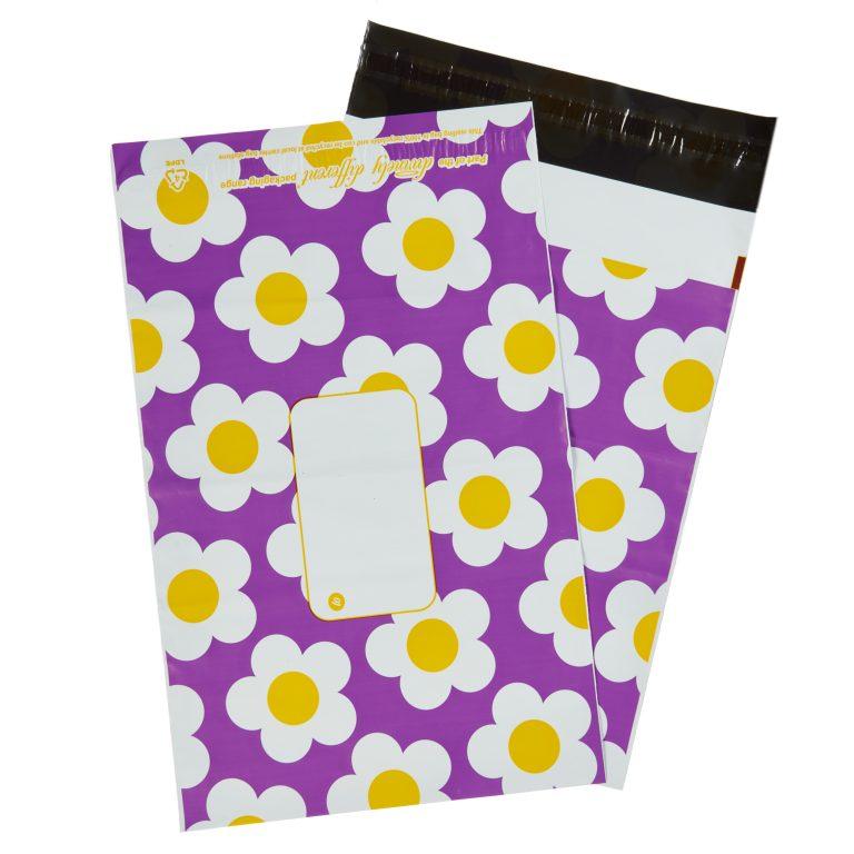 Purple Daisy Single Polythene Mailing Bag