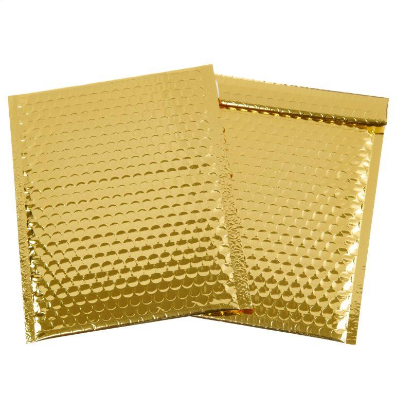 Gold Metallic Padded Bubble Bag