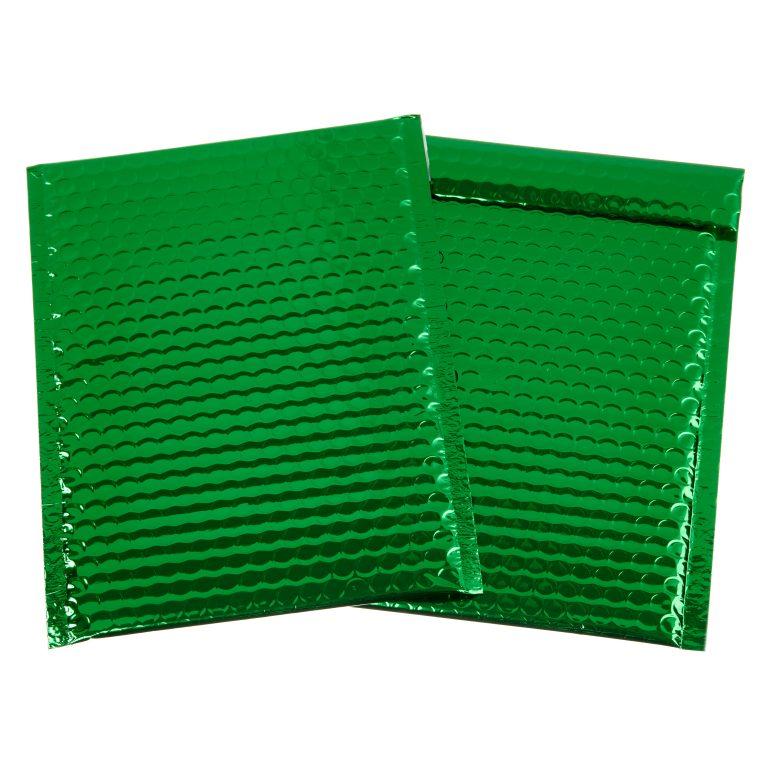 Green Metallic Padded Bubble Bag