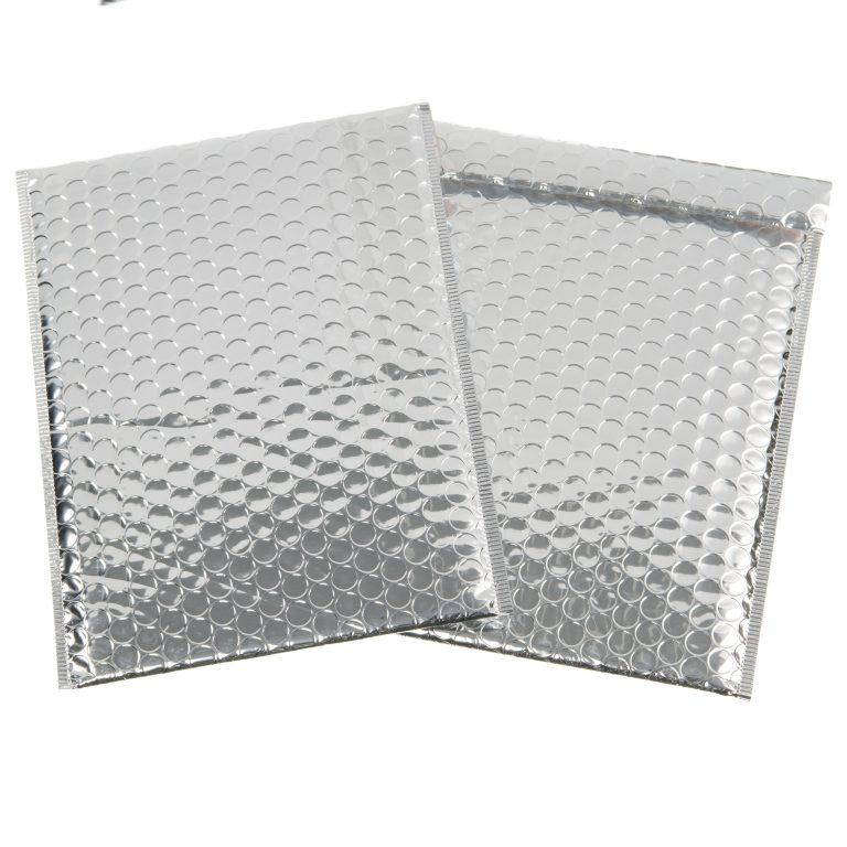 Silver Metallic Padded Bubble Bag