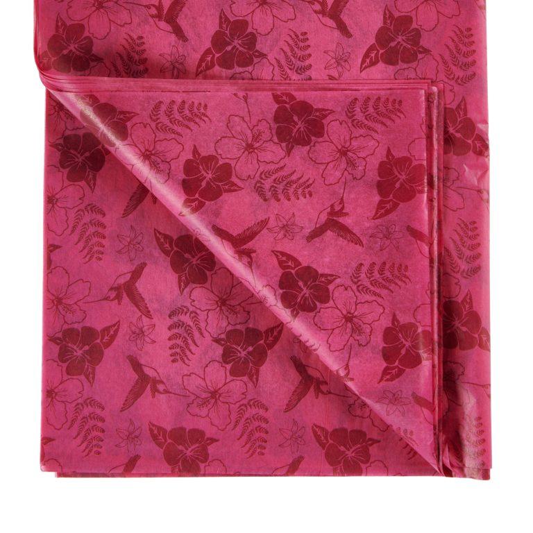 Cerise Pink Hummingbird Printed Tissue Paper