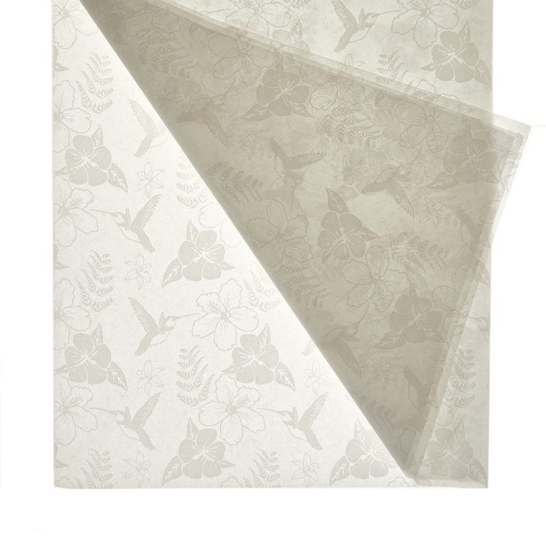 White Hummingbird Printed Tissue Paper