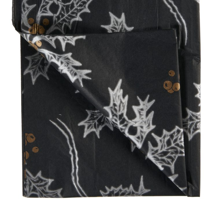 Black Holly Printed Tissue Paper