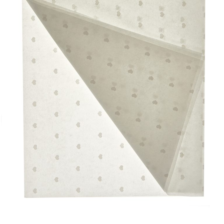 White Heart Printed Tissue Paper