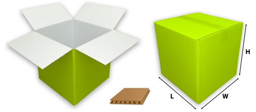 0201 single wall coloured lime green cardboard boxes