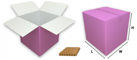 0201 single wall coloured pink cardboard boxes