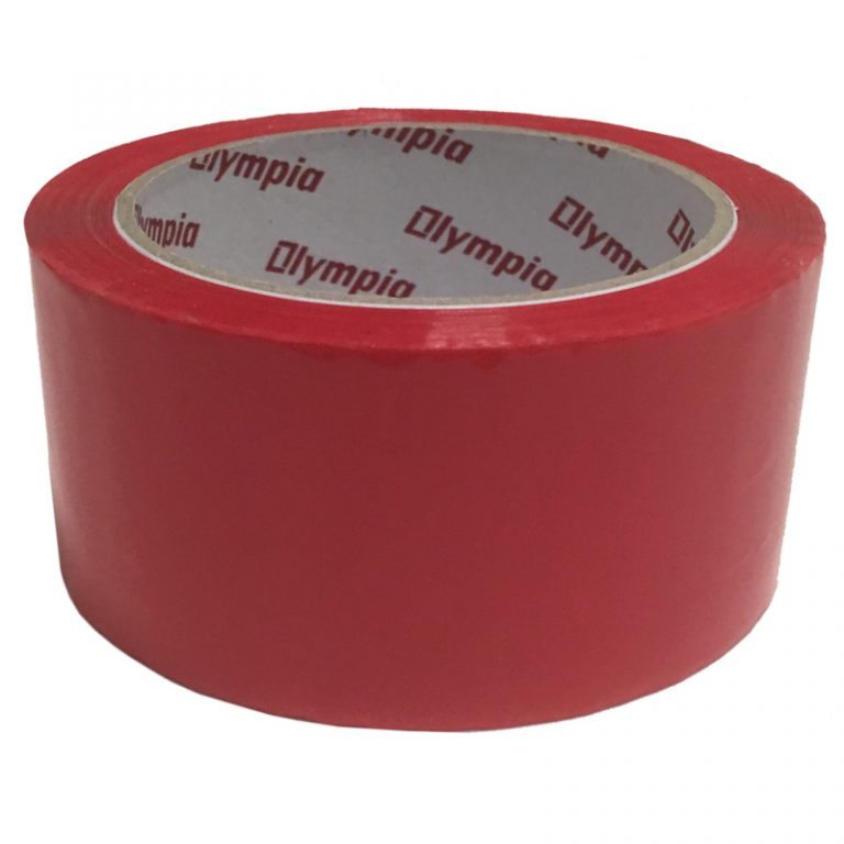 Coloured Red Polypropylene Packaging Tape