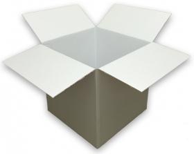 Coloured Silver Cardboard Box