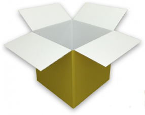 Coloured Gold Cardboard Box