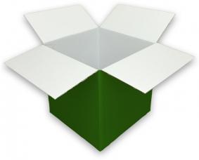 Coloured Green Cardboard Box