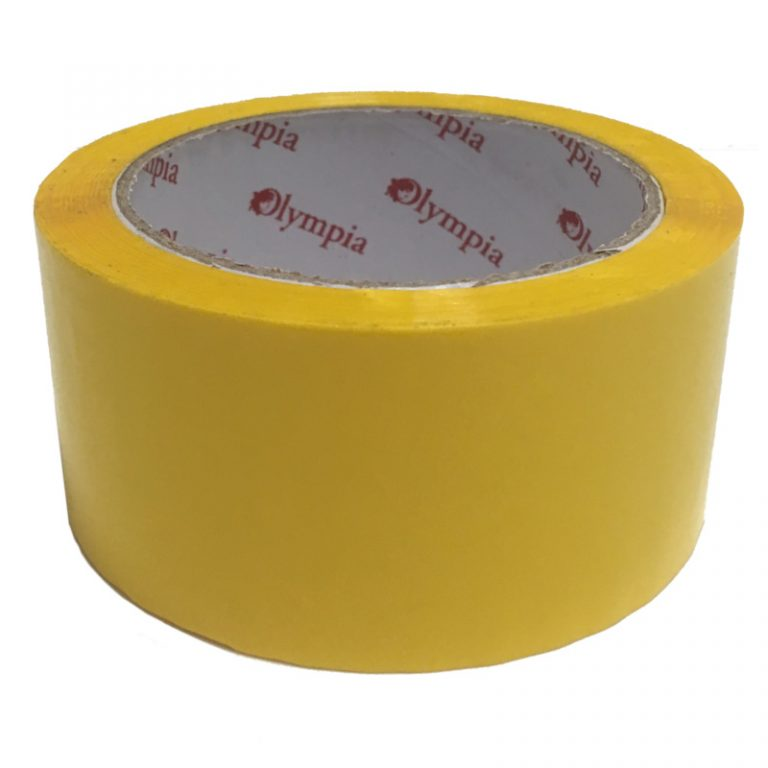 Coloured Yellow Polypropylene Packaging Tape
