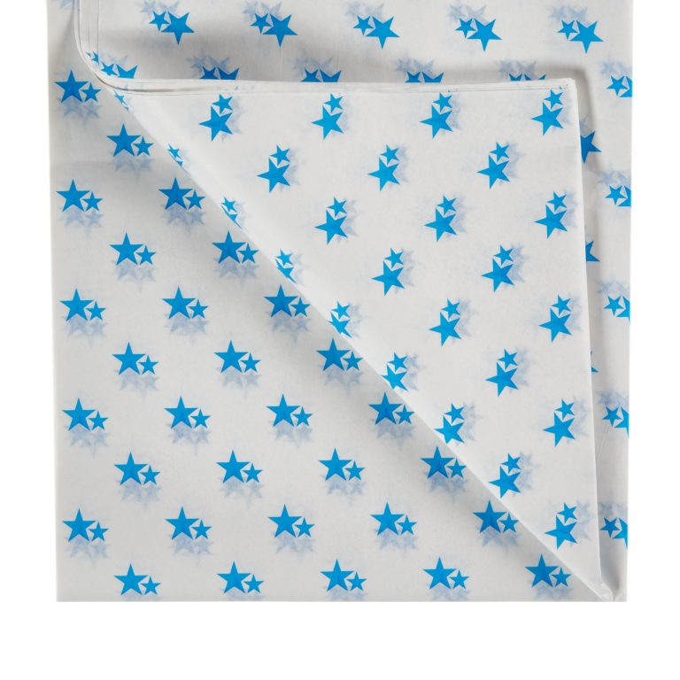 Blue Star Printed Tissue Paper