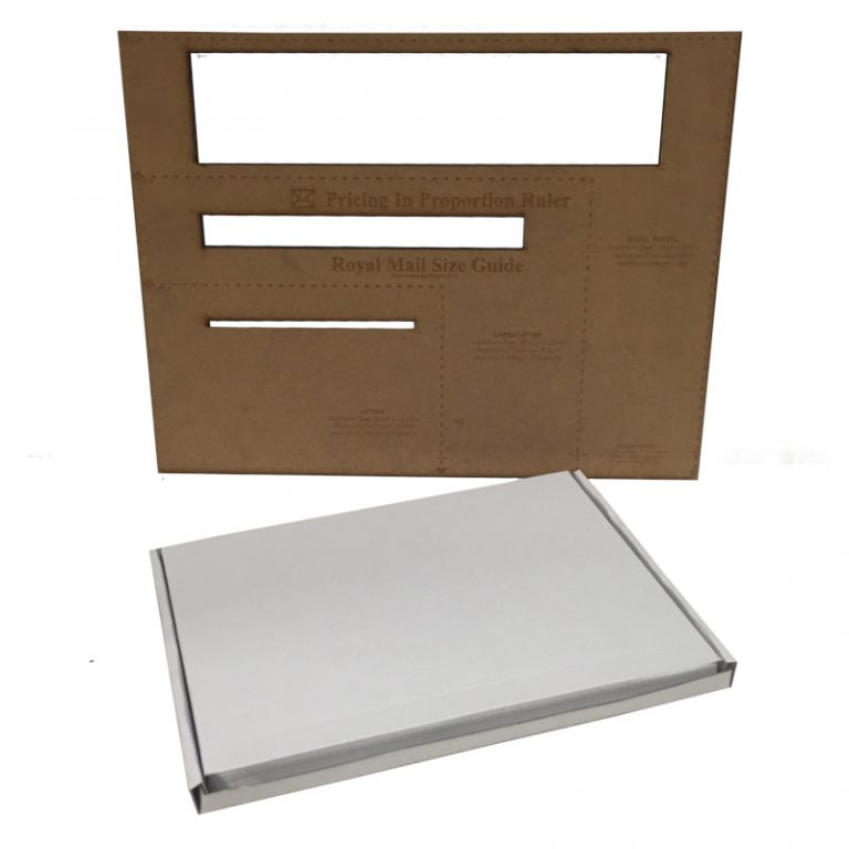 C4 White Cardboard PIP Box Royal Mail
