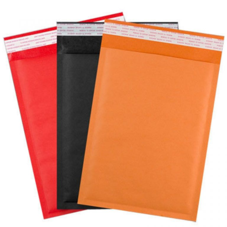 Group Coloured Kraft Padded Envelope Bags