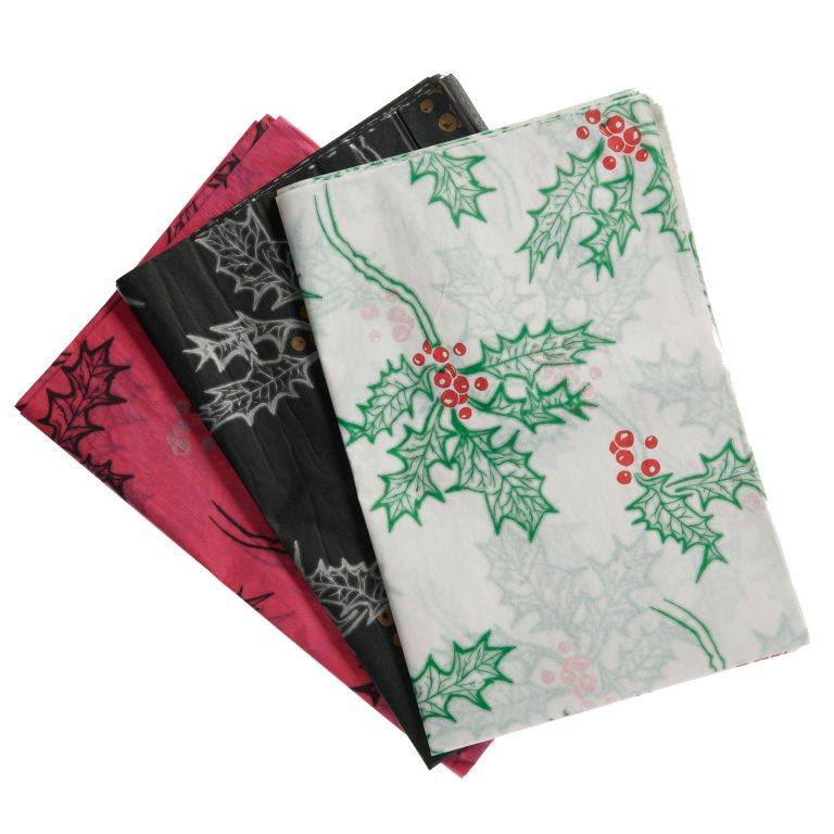 Holly Printed Tissue Paper Group