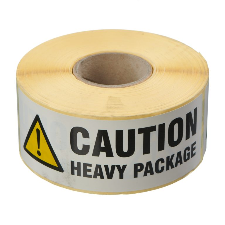 VL148HP - Caution Heavy Package Labels