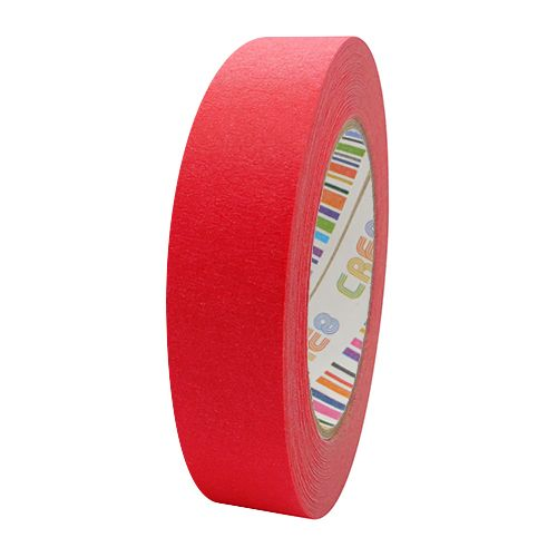 Coloured Paper Masking Tape - 24mm Red