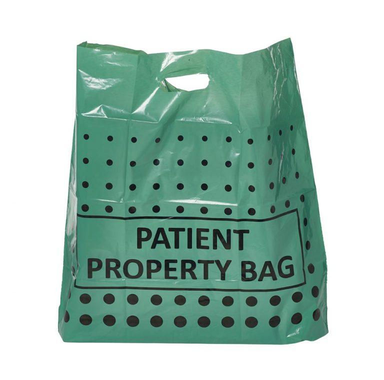 Green Patient Property Carrier Bag