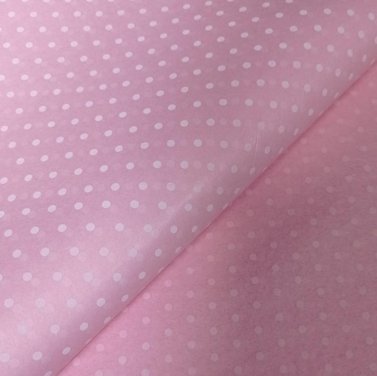 Pink with White Polka Dot Tissue Paper