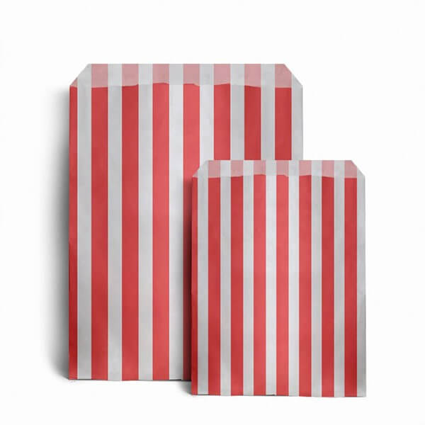 Red Candy Stripe Bags