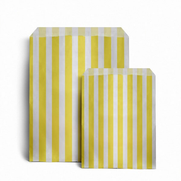 Yellow Candy Stripe Bags